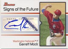 2008 Bowman Signs of the Future Garrett Mock Autograph Toronto Blue Jays