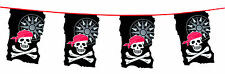Pirate Skull And Crossbones Party Bunting Flags Banner 10M Birthday Decoration