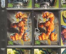 Thing 1995 Marvel Masterpieces Emotion Card Signed+ Reg