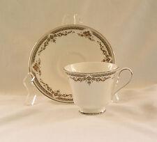 Royal Doulton REPTON (H5057) Cup & Saucer Set~w/Platinum Trim~Discont'd~ENGLAND