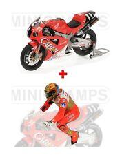 1:12 Minichamps Honda VTR 1000 + Figure Valentino Rossi 8H Suzuka 2001 RARE NEW