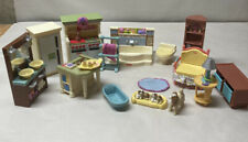 New ListingFisher Price Loving Family Dollhouse Furniture Lot 16 Pieces Kitchen Bathroom