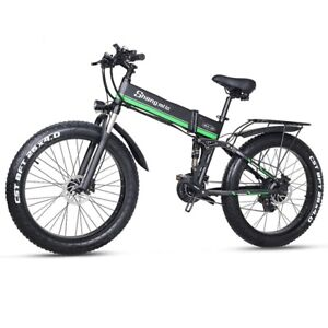 Electric bike 1000W 4.0 fat tire E bike 48V Electric Mountain bike (MX01-Green)