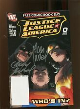 JUSTICE LEAGUE OF AMERICA #0 (9.2) SIGNED ADAM & ANDY KUBERT! 2007