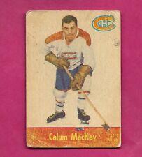 1955-56 PARKHURST # 41 CANADIENS CALUM MACKAY  CARD (INV# 9901)
