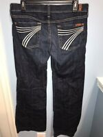 7 For All Mankind Dojo Flare Jeans Size 30 Dark Wash