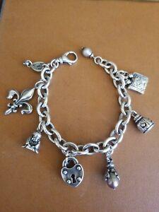 "Alana Leigh Atelier Sterling Charm bracelet 8"""