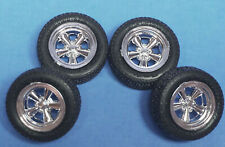 AMT 1968 Camaro BF Goodrich Raised Lettered Tires /& Rally Wheel Set 1//25 Scale