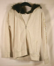 Victoria Secret Jacket Sweater Hoodie Faux Fur Hood Sz Small - VS ANGEL