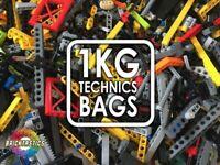 1kg (x850pc's) LEGO TECHNICS BULK LOT BUILDING PACKS - 100% TECHNICS LEGO!