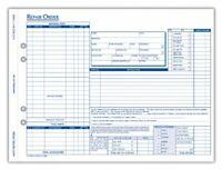 "8.50/"" X Carbonless 4 Part Rediform 4p489 Polypack Auto Repair Order Form"