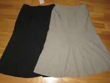 ea53c2ca8a Cotton Traders 2x Black Beige Pull on Elasticated Skirts Size 12 BRAND Nes