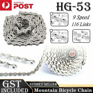 116 Links Bicycle Chain For CN-HG53 LX 9 Speed Deore  Mountain Bike Chains  AU