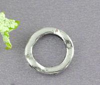 50 älter Silber Kreis Rahmen Metallperlen Beads 1.3cm