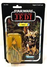 Star Wars Vintage Teebo Ewok ROTJ Kenner MOC 1983 pop cut off