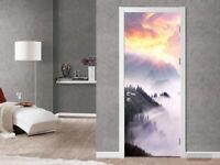 3D Morning Sunrise Landscape Self Adhesive Living Room Door Sticker Wall Murals