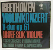 "BEETHOVEN VIOLINKONZERT D-DUR JOSEF SUK FRANZ KONWITSCHNY 12"" LP (e720)"