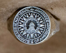 Rare Boy Scout ring 1935 first Nat. Jamboree old adjustable style one size fits