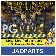 JAOparts Metal Modified parts set for Bandai PG 1/60 RX-0 Unicorn Gundam Banshee