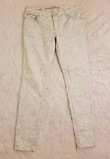 Mossimo Womens Jeans Size 9 Skinny Fit Leopard Print Blue