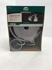 Bell Outdoor Floodlight Kit (two Lights) flood light Kit Gray NEW Hubbell