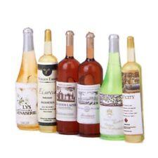 6Pcs set Doll house wine bottle 1/12 handmade accessories B3E4