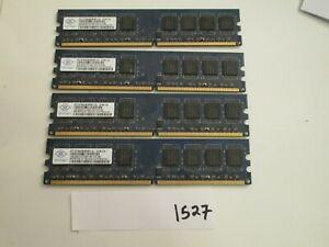 Nanya NT1GT64U8HB0BY-3C 4x1Gb=4Gb PC2-5300 667Mhz DDR2 Desktop Memory RAM (1527)