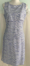 J McLaughlin Nicola Layered Dress Sleeveless Zebra Pattern in Lavender/White