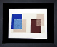 Josef ALBERS Original SILKSCREEN [X-3b] LIMITED Ed. ++CUSTOM Archival FRAMING