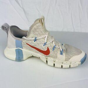 Nike Free Metcon 3 Pale Ivory / Team Orange Womens Size 8 US 5.5 UK CJ6314-146