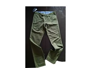 Ralph Lauren Polo Chinos Tailored Slim Fit Olive 32x32 bnwt