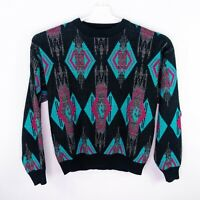 Vintage Saturdays Geometric Cosby Sweater Retro 80's 90's VTG Mens Size XL