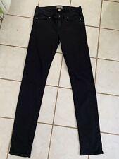 PAIGE DENIM Black PEG SKINNY Stretch Jeans Sz 28