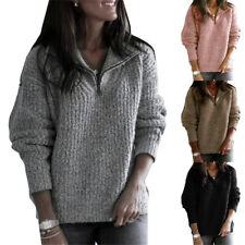 Women Warm Winter V Neck Sweater Xmas Casual Sweatshirt Pullover Jumper Tops US