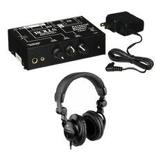 Rolls PM351 Personal Monitor Station w/ Polsen HPC-A30 Studio Monitor Headphones