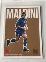 Paolo Maldini Panini Soccer Card 2017 Italy English NM Nobility /20