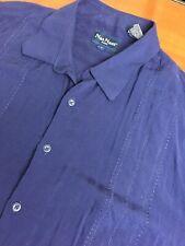 .NAT NAST Mens Smooth Rayon Shirt Short Sleeve Blue XL