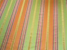 Harlequin Curtain Fabric MELLINI 2.8m Orange/Lime/Hot Pink Stripe Design 280cm