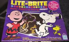 NEW! Vintage Lite-Brite Set 1965 - Rare Peanuts Gang & SNOOPY 24 Pics & 240 Pegs