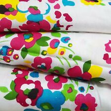 """White Rayon Fabric Floral Printed 44"""" Wide Dressmaking Material Craft By Metre"""