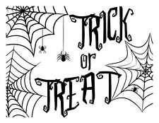 "Magnolia Design Co 8.5""x 11"" TRICK OR TREAT Reusable Adhesive Silkscreen Stencil"