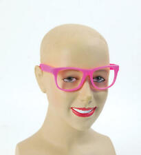 Pink Frame Clear Lense Glasses Barbie Geek Festival Rave Party Fancy Dress