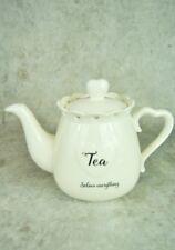 ECCENTRICO Francese Crema ceramica Cuore Tea Pot
