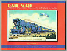 'RAIL MAIL' Railroad postcard history book author signed price guide RPPC etc