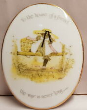 Holly Hobbie To The House of a Friend The Way Is Never Long Wall Plaque c1974