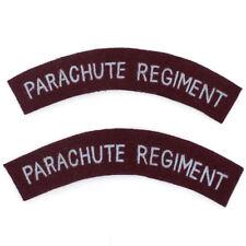 esercito britannico PARACADUTE Reggimento PARACADUTISTA spalla titolo MOSTRINE -