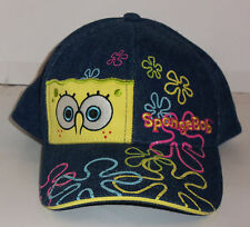 "NEW!  GIRLS NICKELODEON ""SpongeBob"" BLUE JEAN BASEBALL HAT"