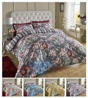 200TC Luxury Bedding Duvet Cover Set Florence Damask Cotton Rich
