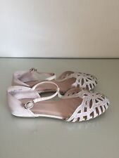 Next Girls Choose to Shine Pink/Beige Party Shoes Size UK3 EUR36