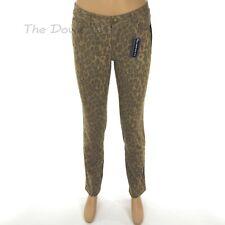 CHAPS by Ralph Lauren Women's Size 2 LEOPARD JEANS Print GREY & TAN Slimming Fit